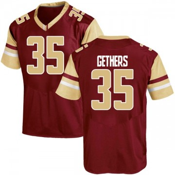 Men's Aaron Gethers Boston College Eagles Under Armour Game Maroon Team Color College Jersey