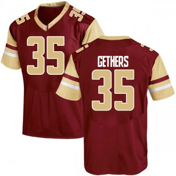 Men's Aaron Gethers Boston College Eagles Under Armour Replica Maroon Team Color College Jersey