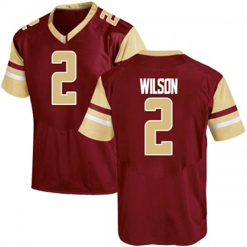 Men's Avery Wilson Boston College Eagles Under Armour Replica Maroon Team Color College Jersey