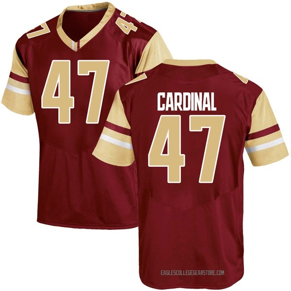 Men's Colton Cardinal Boston College Eagles Under Armour Game Maroon Team Color College Jersey