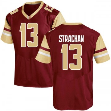 Men's Connor Strachan Boston College Eagles Under Armour Game Maroon Team Color College Jersey