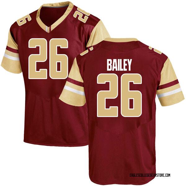 Men's David Bailey Boston College Eagles Under Armour Game Maroon Team Color College Jersey