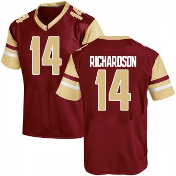Men's Max Richardson Boston College Eagles Under Armour Replica Maroon Team Color College Jersey