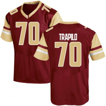 Men's Ozzy Trapilo Boston College Eagles Under Armour Game Maroon Team Color College Jersey