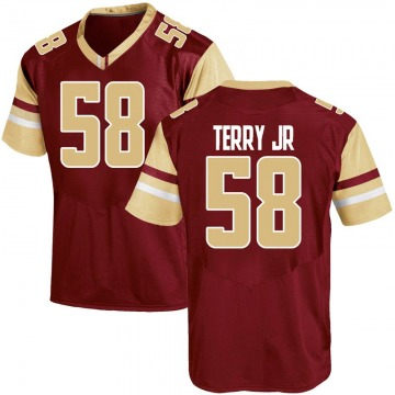 Men's Reggie Terry Jr. Boston College Eagles Under Armour Replica Maroon Team Color College Jersey
