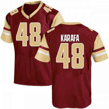 Men's Tanner Karafa Boston College Eagles Under Armour Replica Maroon Team Color College Jersey