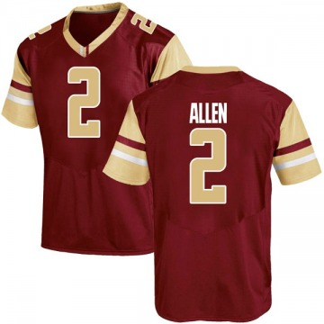 Men's Zach Allen Boston College Eagles Under Armour Game Maroon Team Color College Jersey