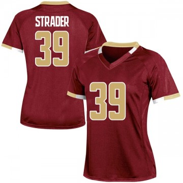 Women's Andrew Strader Boston College Eagles Under Armour Replica Maroon Team Color College Jersey