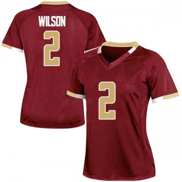 Women's Avery Wilson Boston College Eagles Under Armour Game Maroon Team Color College Jersey