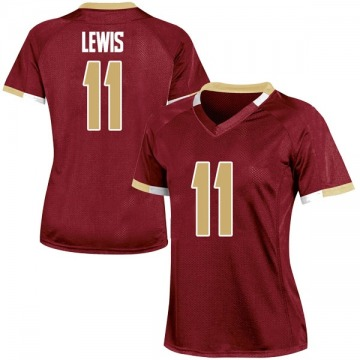 Women's CJ Lewis Boston College Eagles Under Armour Game Maroon Team Color College Jersey