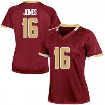 Women's Davon Jones Boston College Eagles Under Armour Game Maroon Team Color College Jersey