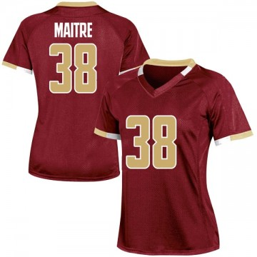 Women's Jason Maitre Boston College Eagles Under Armour Game Maroon Team Color College Jersey