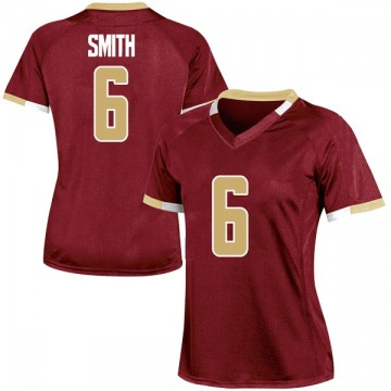 Women's Jeff Smith Boston College Eagles Under Armour Replica Maroon Team Color College Jersey