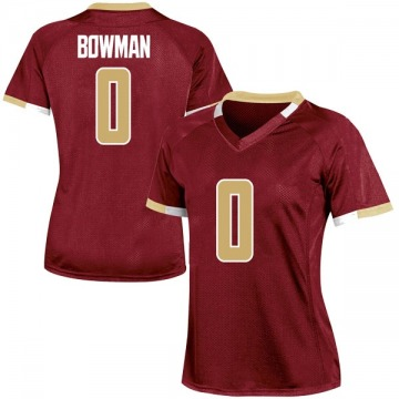 Women's Ky Bowman Boston College Eagles Under Armour Game Maroon Team Color College Jersey