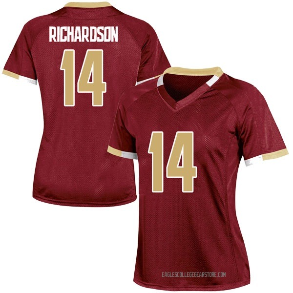 Women's Max Richardson Boston College Eagles Under Armour Game Maroon Team Color College Jersey