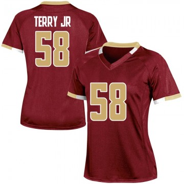 Women's Reggie Terry Jr. Boston College Eagles Under Armour Game Maroon Team Color College Jersey