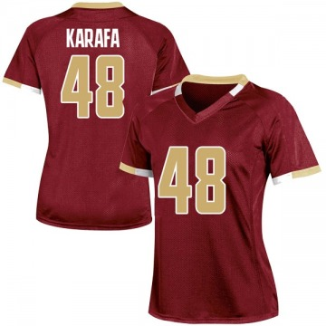 Women's Tanner Karafa Boston College Eagles Under Armour Replica Maroon Team Color College Jersey
