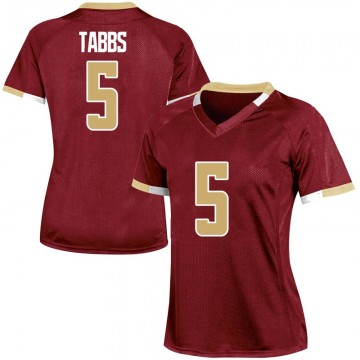 Women's Wynston Tabbs Boston College Eagles Under Armour Game Maroon Team Color College Jersey