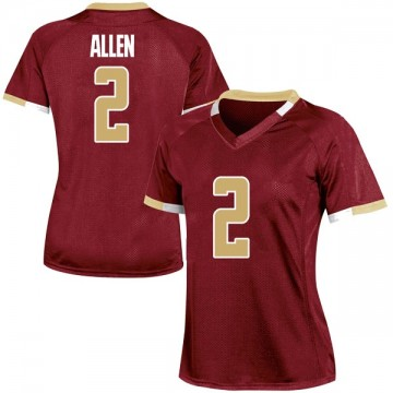Women's Zach Allen Boston College Eagles Under Armour Game Maroon Team Color College Jersey