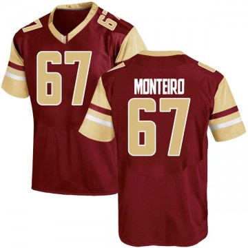Youth Aaron Monteiro Boston College Eagles Under Armour Game Maroon Team Color College Jersey