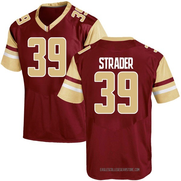 Youth Andrew Strader Boston College Eagles Under Armour Game Maroon Team Color College Jersey