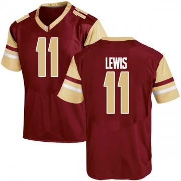 Youth CJ Lewis Boston College Eagles Under Armour Replica Maroon Team Color College Jersey