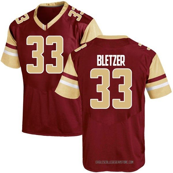 Youth Curt Bletzer Boston College Eagles Under Armour Game Maroon Team Color College Jersey
