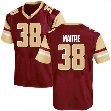 Youth Jason Maitre Boston College Eagles Under Armour Game Maroon Team Color College Jersey