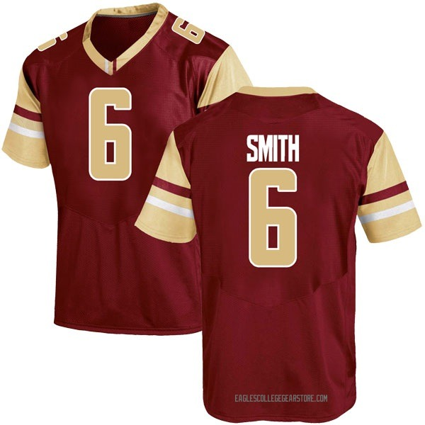 Youth Jeff Smith Boston College Eagles Under Armour Replica Maroon Team Color College Jersey