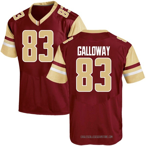 Youth Jehlani Galloway Boston College Eagles Under Armour Game Maroon Team Color College Jersey