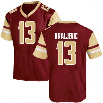 Youth Luka Kraljevic Boston College Eagles Under Armour Game Maroon Team Color College Jersey