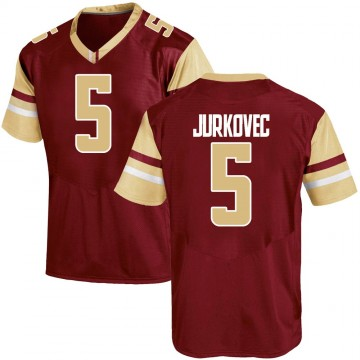 Youth Phil Jurkovec Boston College Eagles Under Armour Game Maroon Team Color College Jersey