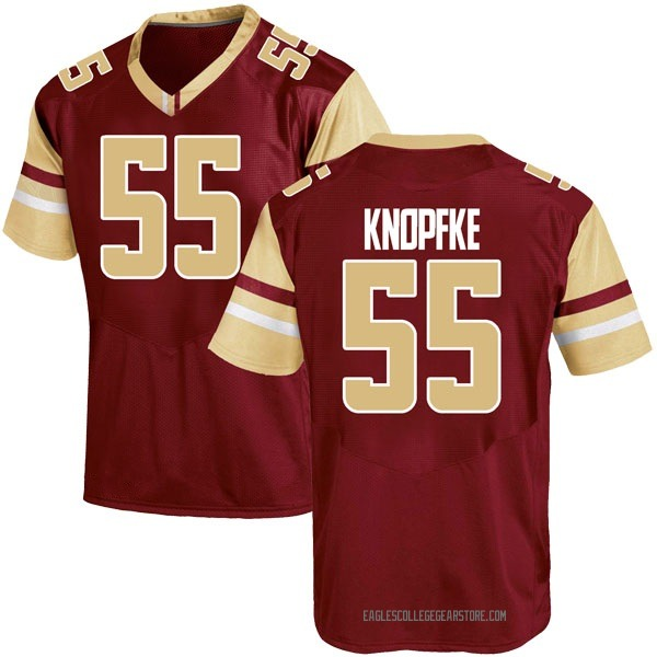 Youth Wyatt Knopfke Boston College Eagles Under Armour Game Maroon Team Color College Jersey
