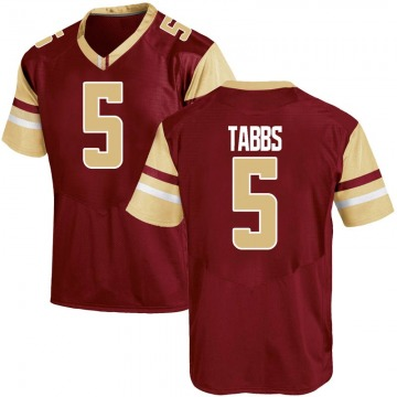 Youth Wynston Tabbs Boston College Eagles Under Armour Replica Maroon Team Color College Jersey