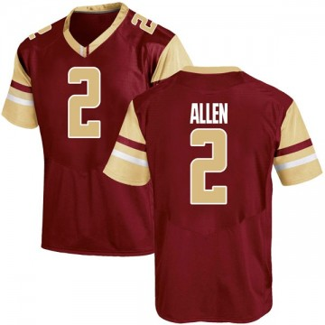 Youth Zach Allen Boston College Eagles Under Armour Game Maroon Team Color College Jersey